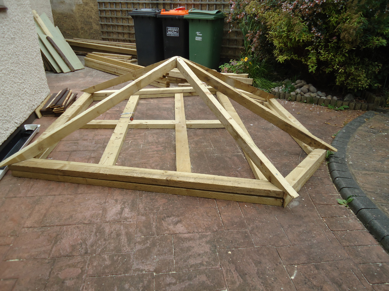 Summer house build overclockers uk forums for How to build an a frame home